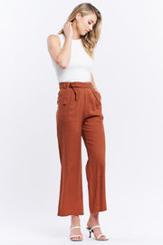 HIGH WAISTED PANT - BROWN