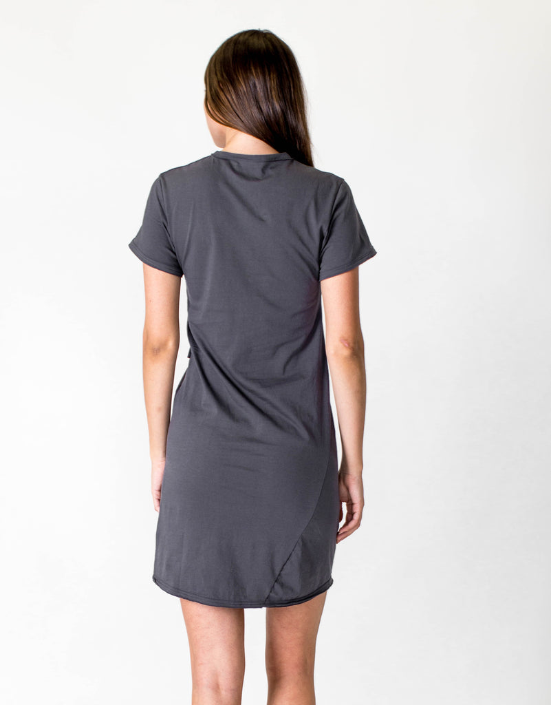 CROSS SEAM DRESS - ASPHALT