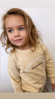 CASA KIDS SWEATER - BEIGE/WHITE