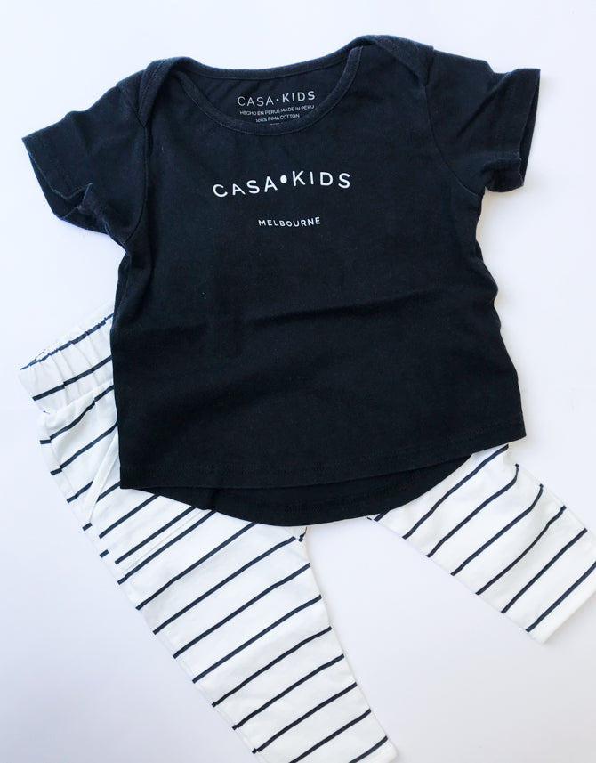 CASA KIDS MELBOURNE TEE - CHARCOAL
