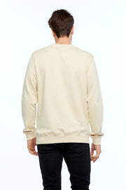 MEN'S VARSITY SWEATER - BEIGE/WHITE