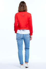 CASA CROP SWEATER - CHILLI