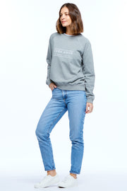 HERITAGE LOGO JUMPER - DARK GREY