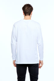 LONG SLEEVE VARSITY TEE - WHITE