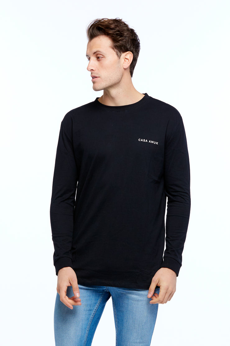 LONG SLEEVE LOGO TEE - BLACK