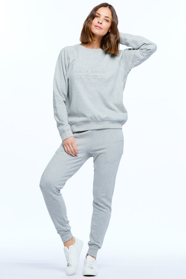 HERITAGE LOGO JUMPER - GREY