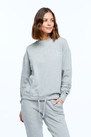 DRAWSTRING WINDCHEATER - GREY/WHITE