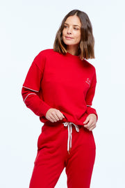 DRAWSTRING WINDCHEATER - CHILLI/WHITE