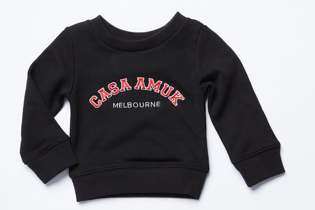 CASA KIDS SWEATER - BLACK/CHILLI