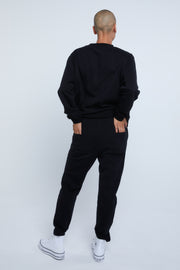 VARSITY SWEATER - BLACK