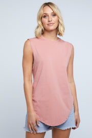 TEARDROP TANK - DUSTY PINK