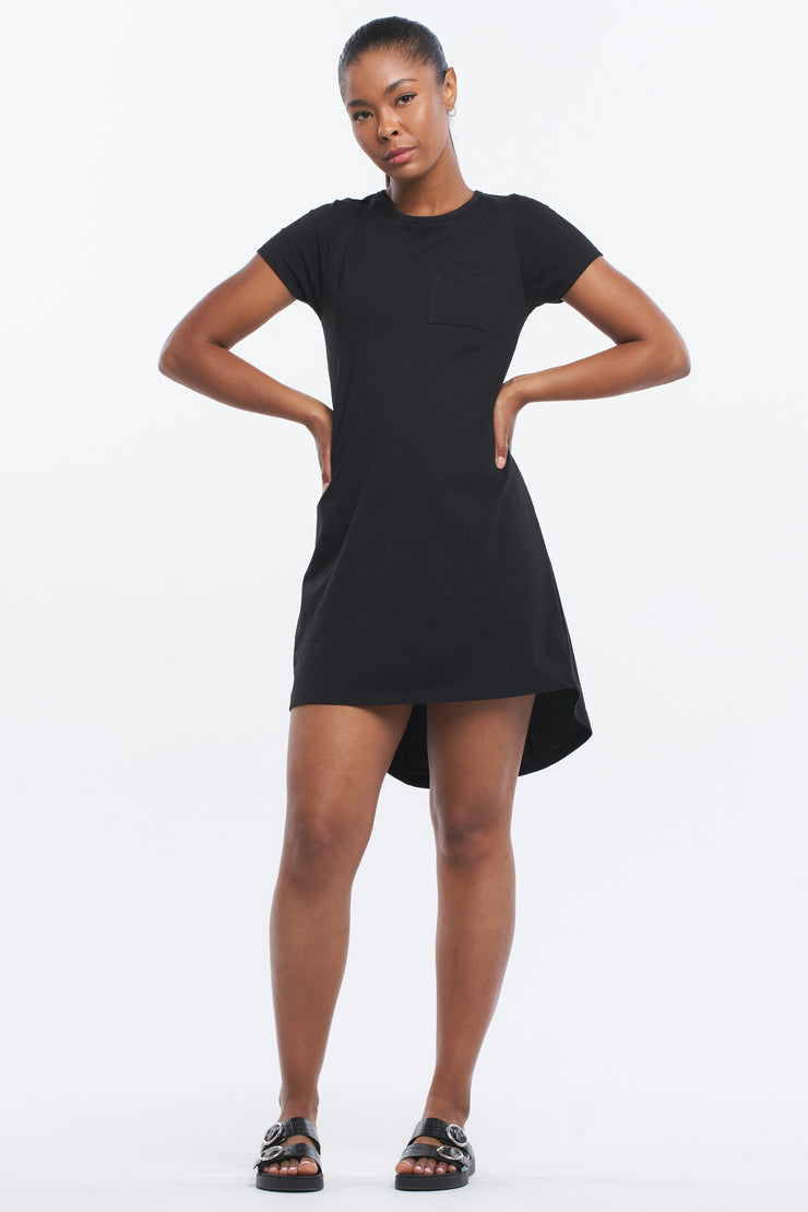 T-BAR TUNIC DRESS - BLACK