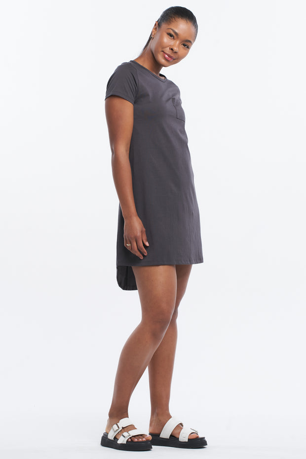 T-BAR TUNIC DRESS - ASPHALT