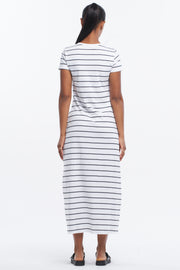 ASYMMETRIC MAXI DRESS - CLASSIC STRIPE
