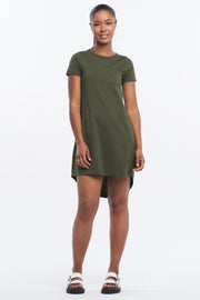 T-BAR TUNIC DRESS - OLIVE