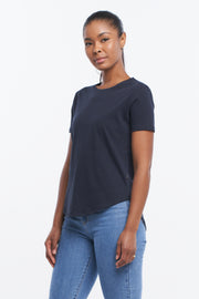 SADDLE HEM TEE - MIDNIGHT