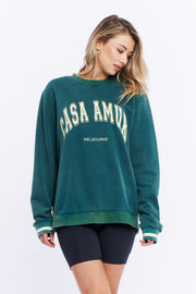 VINTAGE JUMPER - PINE GREEN