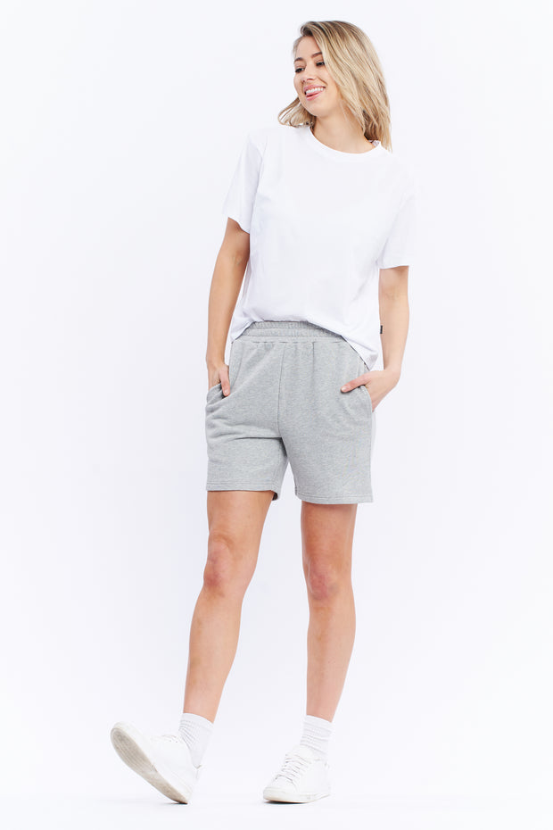 TRACK SHORT - GREY MARLE