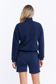 1/4 ZIP JUMPER - NAVY