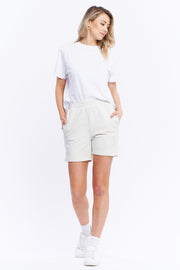 TRACK SHORT - WHITE MARLE