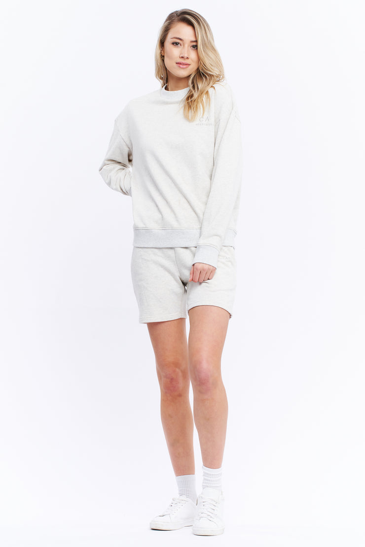LOGO SWEATER - WHITE MARLE