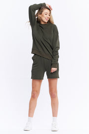 LOGO SWEATER - OLIVE