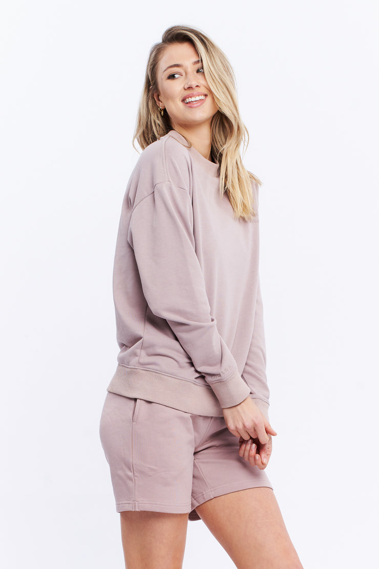 LOGO SWEATER - TAUPE