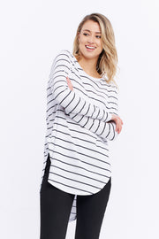 LONG SLEEVE TEARDROP TEE - CLASSIC STRIPE