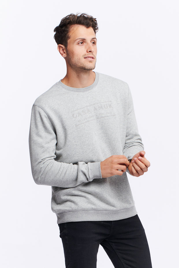 MEN'S HERITAGE LOGO JUMPER - GREY