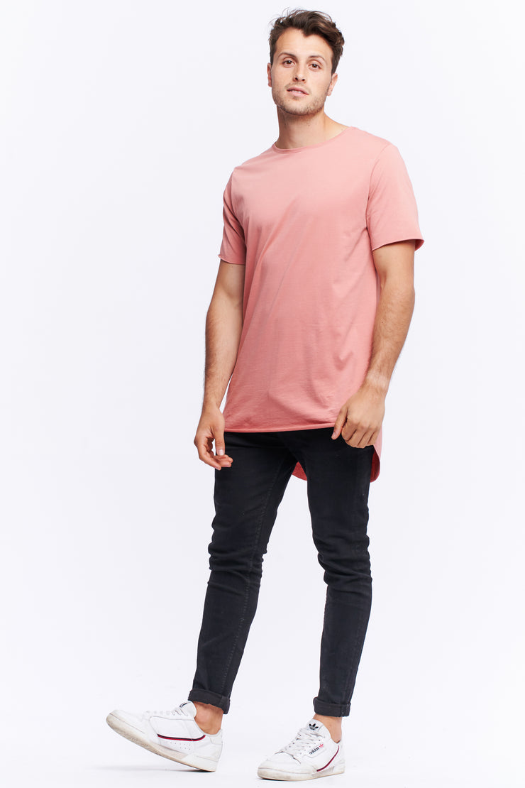 TALL TEE - DUSTY PINK