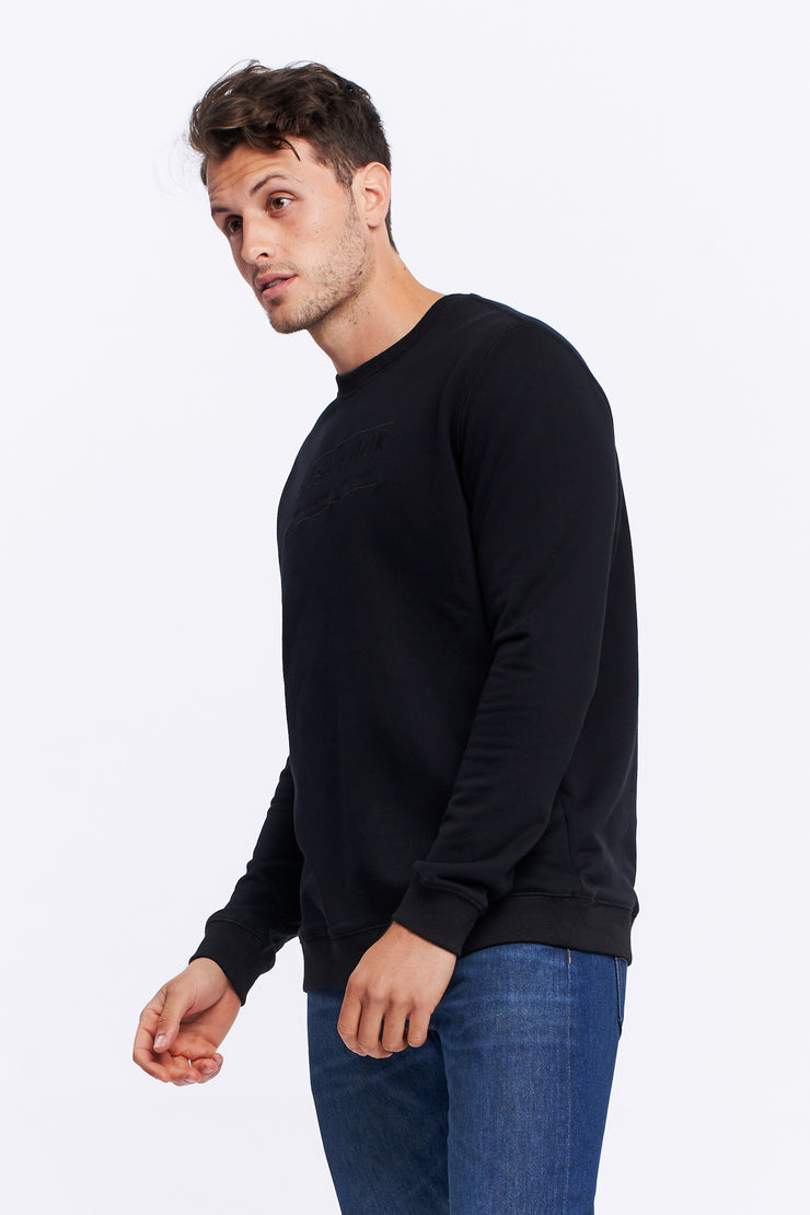 MEN'S HERITAGE LOGO JUMPER - BLACK