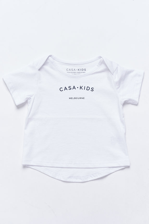 CASA KIDS MELBOURNE TEE - WHITE