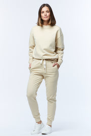HOOPED SLEEVE WINDCHEATER - BEIGE/WHITE