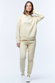 VARSITY SWEATER - BEIGE/WHITE