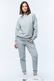 HOOPED SLEEVE WINDCHEATER - GREY/WHITE