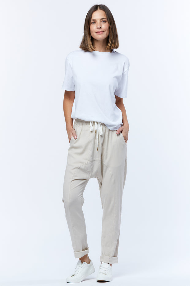 DROPCROTCH PANT - BEIGE