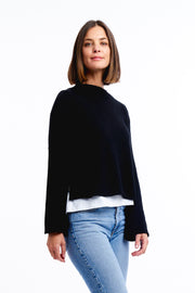 BELL SLEEVE KNIT - BLACK