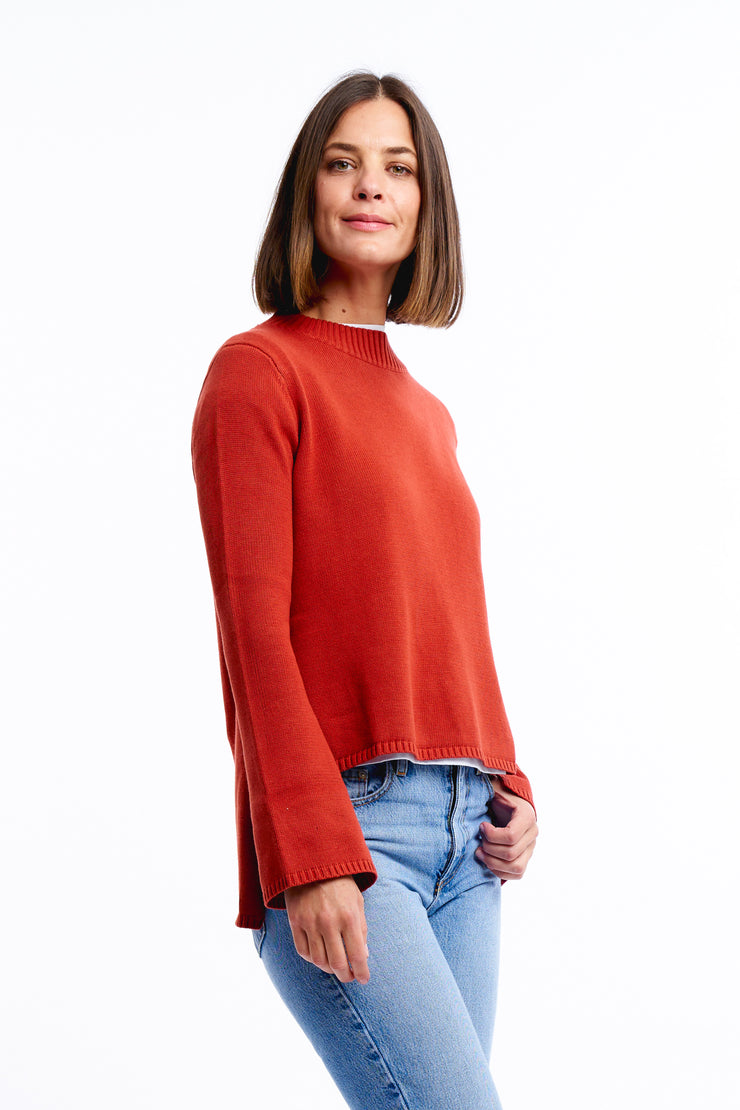 BELLE SLEEVE KNIT - CHILLI