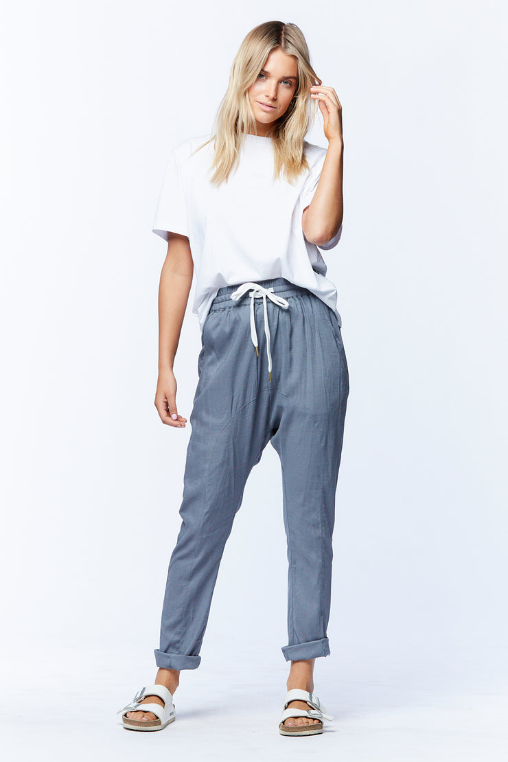 DROPCROTCH PANT - GREY
