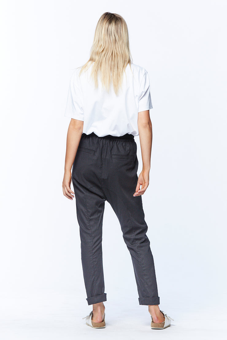 DROPCROTCH PANT - BLACK