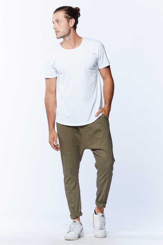MEN'S DROPCROTCH PANTS - KHAKI