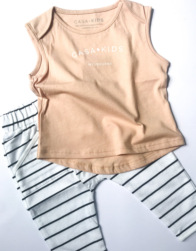 CASA KIDS MELBOURNE TANK - CLAY