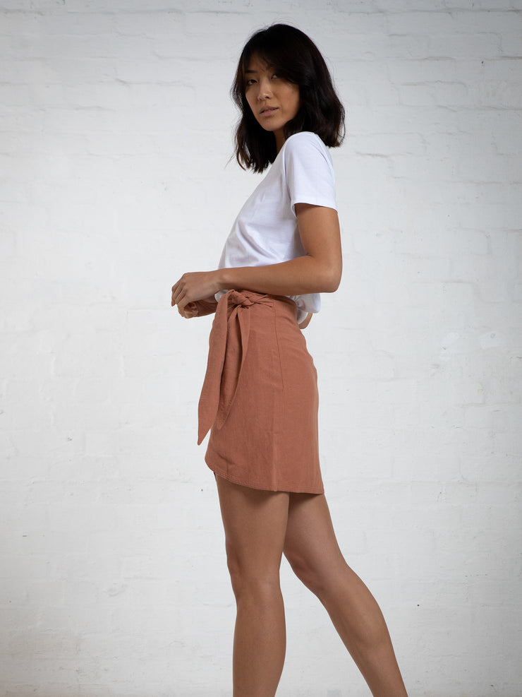 WRAP SKIRT - SALMON