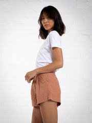 WOMEN'S LINEN SHORT - SALMON