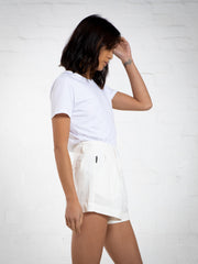 WOMEN'S LINEN SHORT - WHITE