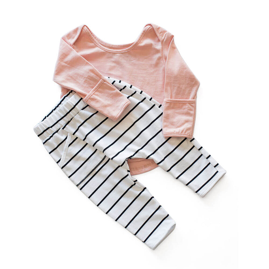 CASA KIDS LONG SLEEVE TEE - BLUSH