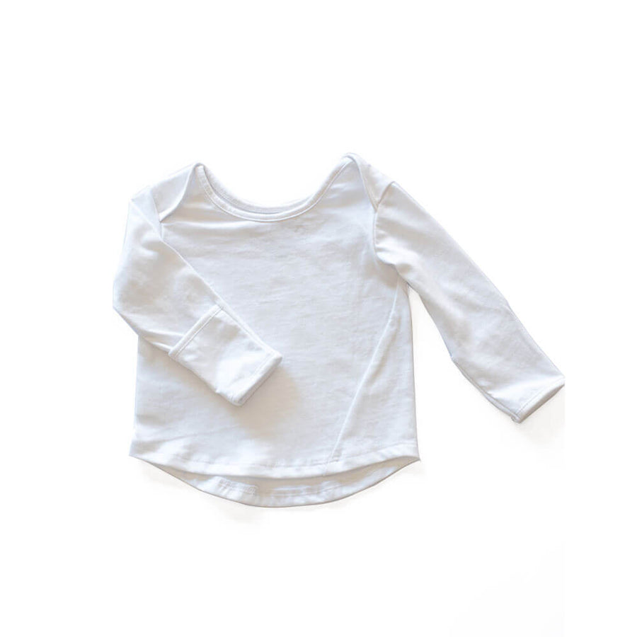 CASA KIDS LONG SLEEVE TEE - WHITE
