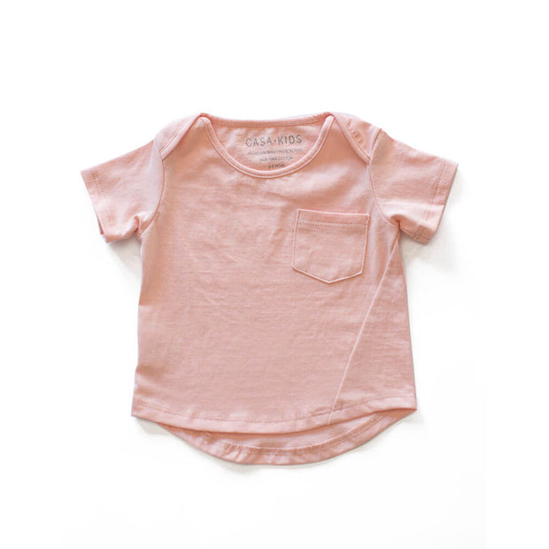 CASA KIDS BASIC TEE - BLUSH