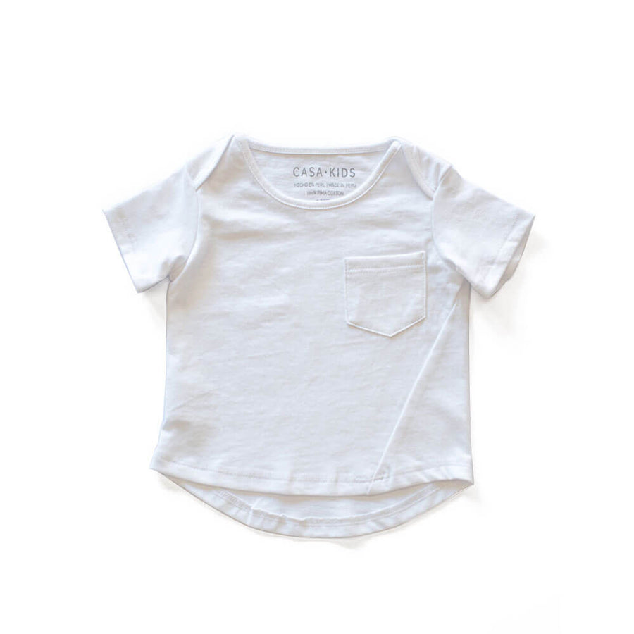 CASA KIDS BASIC TEE - WHITE