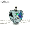 Image of Lovely Heart-Shaped Hummingbird Art Pendant Necklace